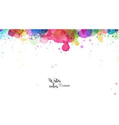 Template design with multicolored splash vector