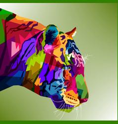 Tiger head colorfull vector