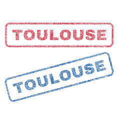 Toulouse textile stamps vector