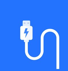 usb charging cable vector image