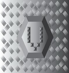 V Text Aluminium Wallpaper vector