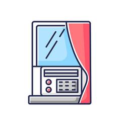 Window air conditioner rgb color icon vector