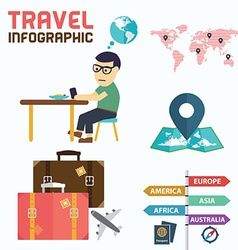 World Travel Business Template Design Infographic vector