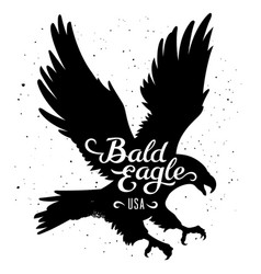 eagle silhouette 002 vector image vector image