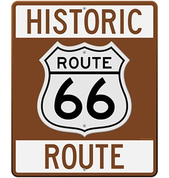 historic route 66 sign vector image