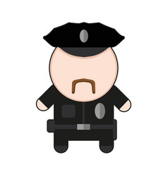 profession character policeman vector image vector image