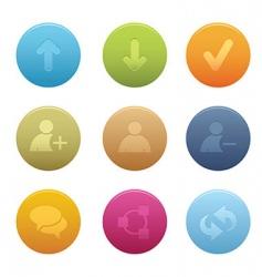 01 circle chat media icons vector image vector image
