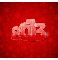 2013 year from glass vector image vector image