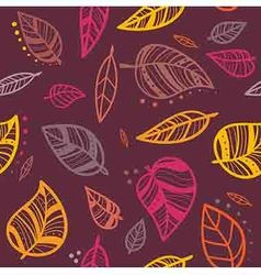 fall pattern vector image vector image