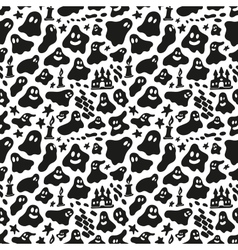 ghosts - seamless background vector image vector image