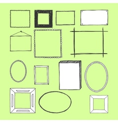 Hand Drawn Frames Doodles Isolated vector image vector image