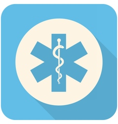 Star of Life icon vector image vector image