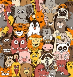 Colorful seamless pattern with animals vector