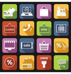 E-commerce icons set flat vector image
