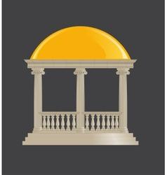 Rotunda classic ionic order vector