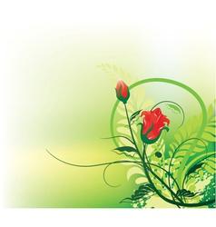 splash floral background vector image vector image