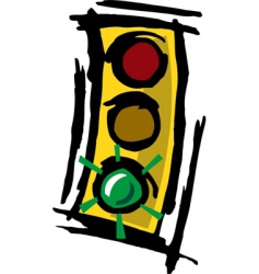 stop light vector image vector image