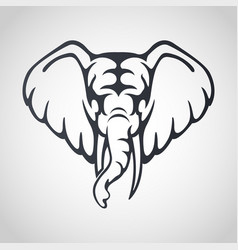 african elephant logo icon design vector image