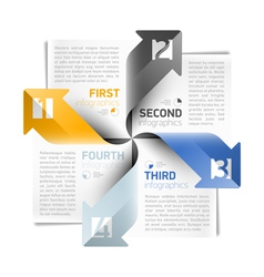 Arrows infographics design template vector image vector image