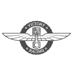 Auto emblem Piston and wings vector image