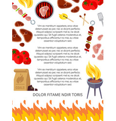 grill house or barbeque poster design vector image