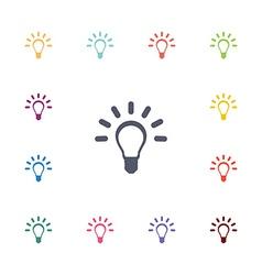 idea flat icons set vector image