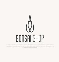 logo for plant bonsai or flower shop vector image