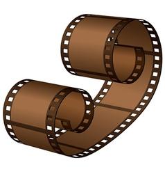 3d roll film strip vector
