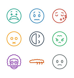 9 character icons vector