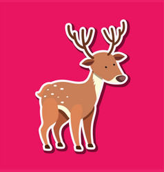 a deer sticker character vector image