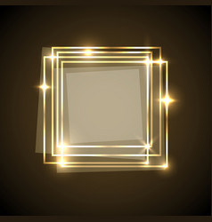 Abstract background with gold squares banner vector