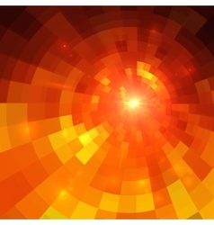 Abstract orange circle technology vector image