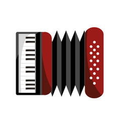 accordion musical instrument isolated icon vector image