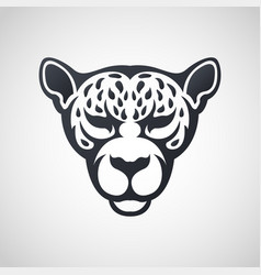 African leopard logo icon design vector