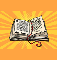 Ancient book religion fairy tale and literature vector