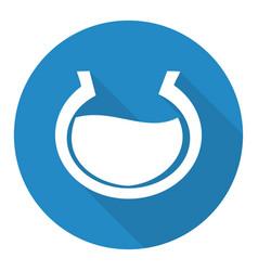 aquarium icon with a long shadow vector image