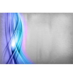 background blue wave grey vertical vector image