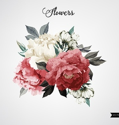 Bouquet of roses watercolor can be used as vector