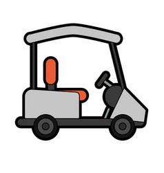cart golf related icon image vector image