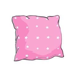 cartoon decorative pillows hand drawn set of vector image