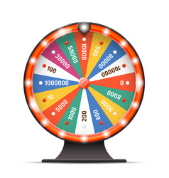 Casino luck fortune wheel spin turning lottery vector