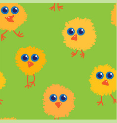 chickens seamless pattern vector image