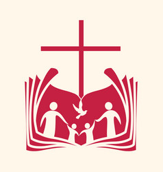 Christian family vector