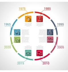 Circle Timeline Infographic business vector image