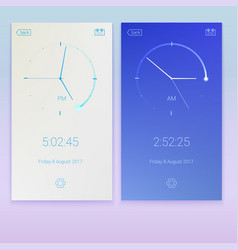 clock application concept ui design day and vector image