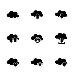 cloud icon set vector image