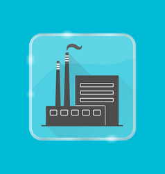 coal power plant silhouette icon in flat style on vector image