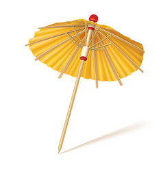 Cocktail or drink yellow umbrella vector