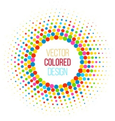 Colorful halftone vector image