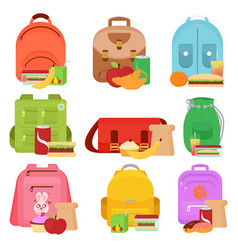 colorful of school kids bags vector image